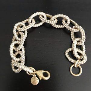J.Crew Crystal Pavé Link Bracelet